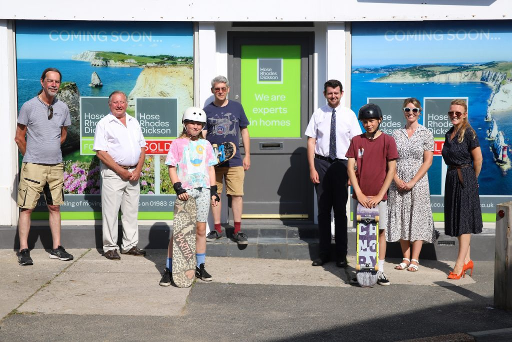 Freshwater Parish Council and Hose Rhodes Dickson for the sponsor of Freshwater Skate Park
